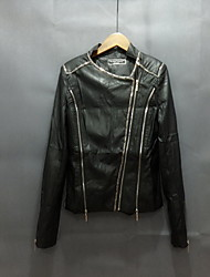 Ms Personalized Fashion Short Paragraph Motorcycle Leather Leather Jacket