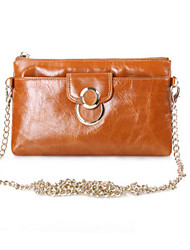 Women 's  Genuine Leather  Large Capacity Clutches Wallet Fashion Zipper Handbags Coin Purses Chain CrossBags