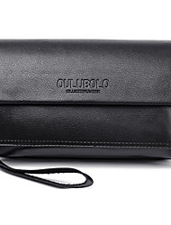 Men Bags All Seasons PU Wallet Wristlet with for Shopping Casual Office & Career Black Brown