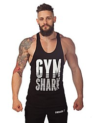 Men's Fitness Printing the Word Vest