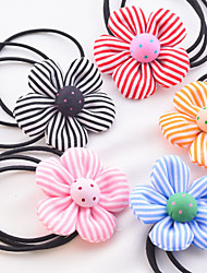 Candy Girl Fabric Flower Hair Ties Hair Jewelry(Random)