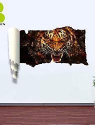 "Animais / Romance / Paisagem / Formas / Fantasia Wall Stickers Autocolantes 3D para Parede , PVCL:85cmX127cmX0.3cm(33.5""X50.0""X0.1"");M:"