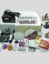 3 Guns BaseKey Tattoo Kit K312 Machine With Power Supply Grips Cups Needles(Ink not included)