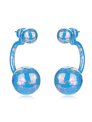 Beads Stud Earrings For Women Mix Color Plated Men Long Earring Fine Wedding Fashion Party Bridal Accessories