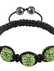 Strand Beads Bracelets Rhinestone micro disco ball bead Crystal Bracelets jewelry Wholesale beads (3Pcs)bracelet xb-103