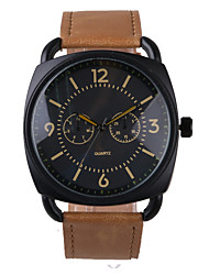Business Style Brown Leather Belt Men's Watch Cool Watches Unique Watches
