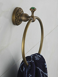 Towel Ring , Traditional Antique Copper Wall Mounted