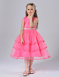 Girl's 100-170cm 6colors Dress,Solid Cotton / Polyester All Seasons