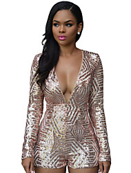 Women's  Gold Sequin Playsuit