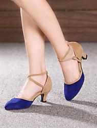 Non Customizable Women's Dance Shoes Leather / Patent Leather Leather / Patent Leather Latin / Jazz Heels Cuban HeelOutdoor / Performance