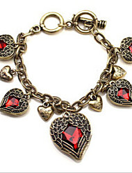 Fashion Jewelry Retro Wings Heart Bracelet