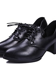 Women's Shoes  Spring All Match Chunky Heel Pointed Toe Oxfords  Casual Black / Burgundy