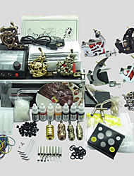 8 Guns BaseKey Tattoo Kit K804 Machine With Power Supply Grips Cups Needles(Ink not included)