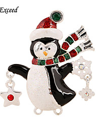 D Exceed Lovely Fashion Jewelry Crystal Brooches cuute animals Penguin shaped