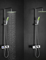 High Quality Brass Chrome 38 ℃ Thermostatic Smart Digital Display Water Flow Generate Electricity  Shower Faucets