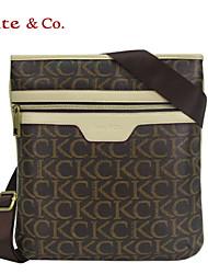 Kate & Co.® Femme PVC Sac à Bandoulière Gris - TH-02232