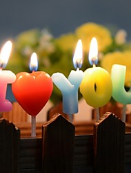 Romantic Valentine's Day I Love You Birthday Wedding Party Candles Cake Decoration