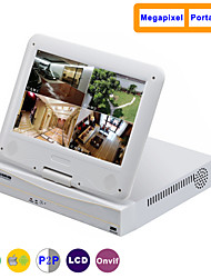 10.1 Inch 4CH 960P/720P with HDMI and P2P LCD NVR