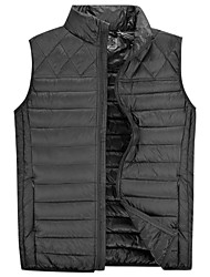 Lesmart Men's Sleeveless 90% White Duck Down Lightweight Vest , Casual Fashion Business Solid Warm Windproof