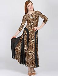 Roupa ( Estampado Leopardo , Elastano / Poliéster , Dança Moderna ) - de Dança Moderna - Mulheres
