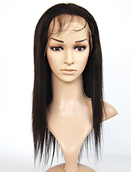 Human Hair Lace Wigs Midium Length Yaki Full Lace Wigs Brazilian Virgin Hair Wigs With Baby Hair