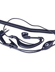 baiston BST-m profissional fone de ouvido curva walkie-talkie w / Interface de m - preto (90 centímetros-cabo)