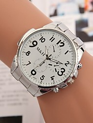 Women's Men's Unisex Fashion Watch Quartz Alloy Band Silver
