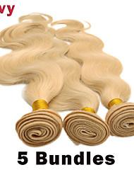 """vivy 10 """"-30"""" 5 pacchi # 613 capelli biondi capelli dell'onda estensioni dei capelli remy brasiliani corpo capelli tessuto brasiliano"""