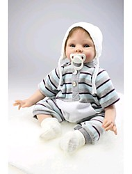 NPKDOLL Reborn Baby Doll Soft Silicone 22inch 55cm Magnetic Mouth Lovely Lifelike Cute Boy Girl Toy White Scarf