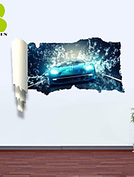 3D Wall Stickers Wall Decals, Motorcycle Race Decor Vinyl Wall Stickers