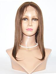 cabelos lisos 8-12inch perucas de cabelo virgem perucas cheias do laço brasileiros para as mulheres