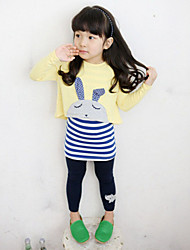 Girl's Clothing Set,Rayon Spring / Fall Yellow / Gray