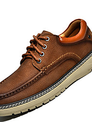 Men's Shoes Outdoor / Office & Career / Work & Duty / Athletic / Casual Leather Oxfords Brown / Khaki