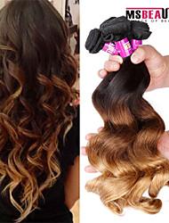 4 PC / Los 7a 3t peruanisches reines Haar lose Welle Menschenhaareinschlagfäden 100% unverarbeitetes peruanisches remy Haar spinnt