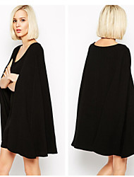Women's Solid Black Blouse , V Neck Long Sleeve