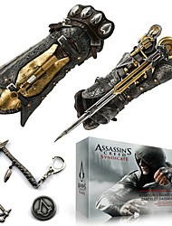 Assassin's Creed Syndicate Assasin's Gauntlet with Hidden Blade  (+Alloy Badge Necklace Key Buckle 5Pcs Set)