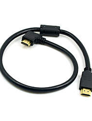 CY® Gold Plating HDMI 1.4 to Right Bank HDMI Cable (0.5M)