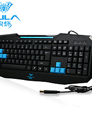 AULA Ergonomic USB Gaming Multimedia Wired Keyboard (Black)