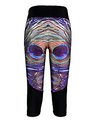 Running 3/4 Tights / Leggings / Bottoms Unisex Compression Polyester Yoga / Exercise & Fitness Sports Stretchy TightPerformance / Leisure