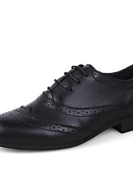 Size 38-50 Men's Shoes Casual Leather Oxfords Black / Brown / White