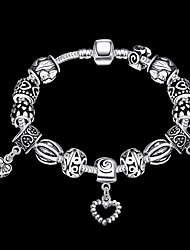 Fashion jewelry Strand Beads Bracelets Beads Glass Beads Charm Bracelets 925 Silver European beads for women PH023