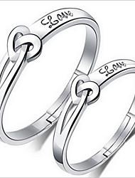 Couple de Bagues ( Argent sterling ) Mariage / Soirée / Quotidien
