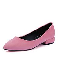 Women's Shoes Low Heel Heels / Pointed Toe Heels Casual Black / Pink / Purple / Red