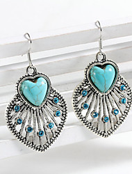 HUALUO®Love Turquoise Inlay Diamond Earrings