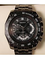 Men Wacth  Brand New Black Stainless Steel Exquisite Fashion Sports  Quartz Watch masculino Reloje Clock Wrist Watch Cool Watch Unique Watch