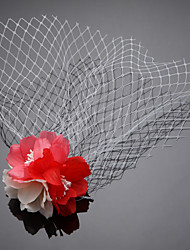 Women's Fabric Headpiece - Wedding / Outdoor Birdcage Veils 1 Piece