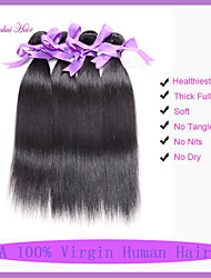 Wholesale hair products Indian virgin hair straight 3 pcs lot Indian human hair weave Indian straight hair