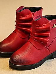 Botas ( Negro / Rojo ) - Botas de Nieve / Punta Redonda - Microfibra