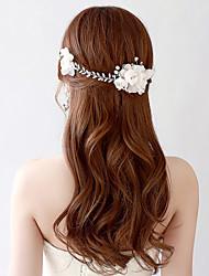 Korean Imitation Pearl / Organza / Fabric Headpiece - Wedding / Special Occasion Headbands / Flowers