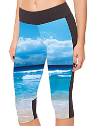 Woman Blue Sky Sports Pants Workout Pants